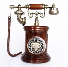 Vintage telephone depicting announcement of shortlisted entries for manuscript competition